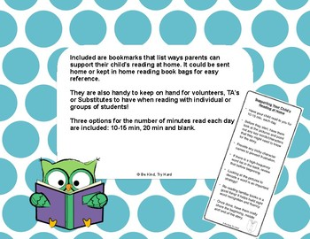 Ways to Support Reading for Parents Bookmark