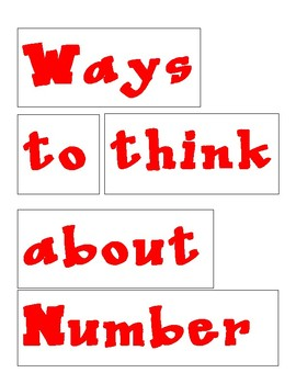 Ways to Think about Numbers Posters
