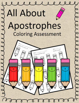 Ways to Use Apostrophes - Pencil Themed