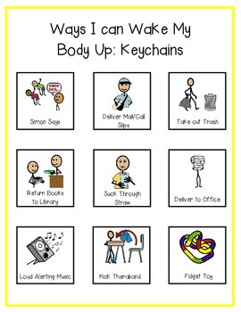 Ways to Wake Up My Body: Key Ring