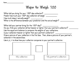Ways to Weigh 100