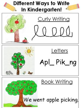 Ways to Write In Kindergarten