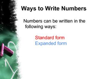 Ways to Write Numbers
