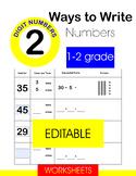 Ways to Write Numbers. EDITABLE WORKSHEET