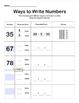 Ways to Write 2-Digit Numbers. EDITABLE WORKSHEET