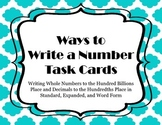 Ways to Write a Number Task Cards