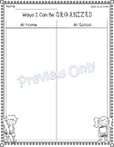 Ways to be Organized at Home and School - Worksheet