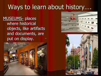 Ways to learn about History