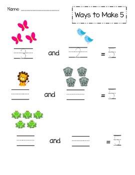 Ways to make 5