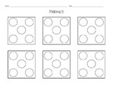 Ways to make 5 -- simple addition coloring sheet