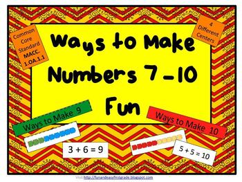 Ways to make Numbers 7 - 10 Fun! (Common Core Aligned)