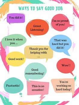 """Ways to say """"Good Job"""""""