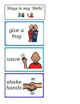 Ways to say Hello visual