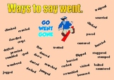 Ways to say Went