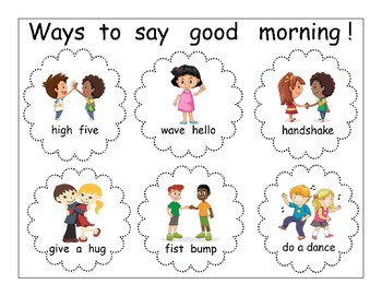 Ways to say good morning poster