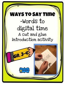 Ways to say time- words to digital time