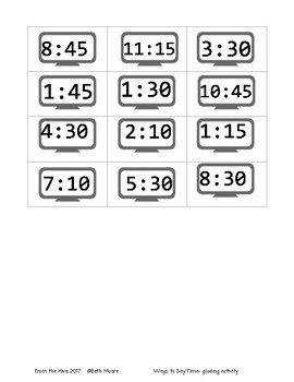 Ways to say time using words to digital time