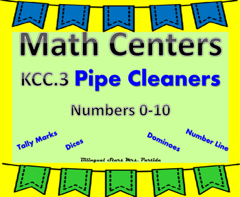 Ways to show Numbers 0-10 Pipe Clearners Bilingual StarsMrsPartida