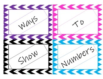 Ways to show a number 1-30