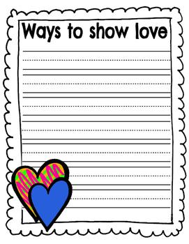 Ways to show love - kindness week
