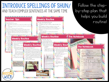 Ways to spell /shun/ -tion, -sion, and -cian - a mentor sentence grammar lesson