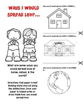 Ways to spread LOVE flapbook