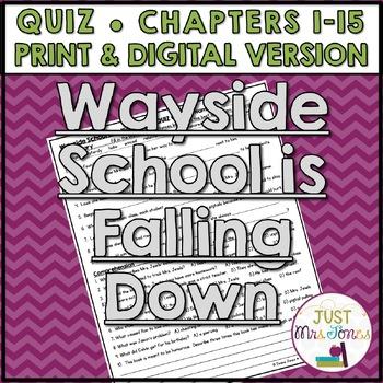 Wayside School Is Falling Down Quiz (Ch. 1-15)