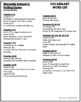 Wayside School Is Falling Down Vocabulary Word List