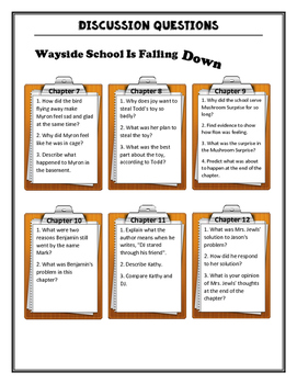 Wayside School is Falling Down Discussion Questions