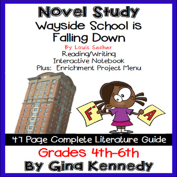 Wayside School is Falling Down Novel Study + Enrichment Project Menu