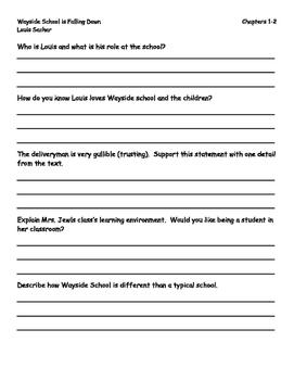 Wayside School is Falling Down Reading Guide