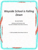 Wayside School is Falling Down Unit with Literary and Grammar Activities