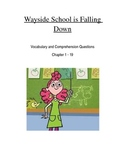 Wayside School is Falling Down Vocabulary and Comprehension Questions