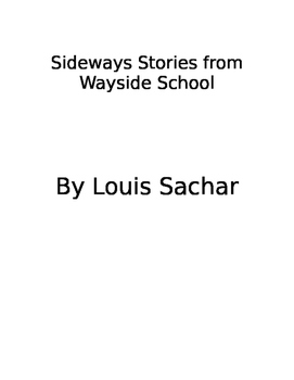 Wayside Stories from Wayside school book study