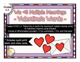We Love Multiple Meaning Words - A Valentine's Activity