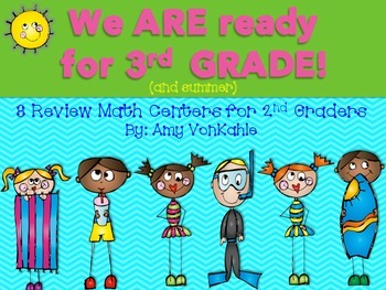 We ARE Ready for 3rd Grade!  Math Centers for the end of 2nd grade!