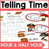 First Grade Telling Time Math Game
