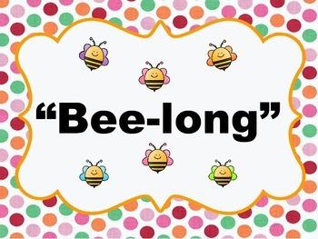 We All Bee-long Set, Bee Theme