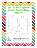 We All Fit Together Classbuilding Activity