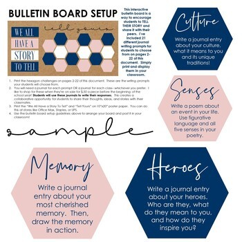 We All Have a Story to Tell: Interactive Bulletin Board Classroom Decor