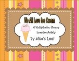We All Love Ice Cream Multiplication Incentive Activity