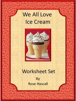 Ice Cream Cut and Paste  Math & Literacy Centers Worksheet