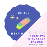 We All Meka Mistakes STICKERS Music Piano Lessons - Instan