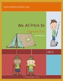 We All Pitch In Classroom Job Posters
