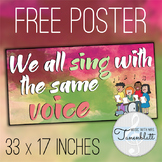We All Sing With the Same Voice Poster #kindnessnation #we
