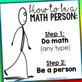 How to be a Math Person Growth Mindset Poster