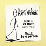 We Are All Math People Growth Mindset Poster