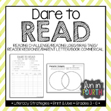 Dare to Read - Brag Tags, Reading Incentives, Logs, and Responses
