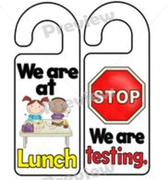 """We Are At"" Door Hangers Set"