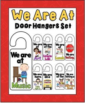 """""""We Are At"""" Door Hangers Set"""